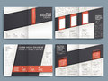 Vector brochure layout design template of with spread pages Royalty Free Stock Image
