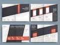 Vektor brožura rozmístění šablona