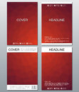 Vector brochure template, flyer, cover magazine in A4 size. Business abstract background with triangles.