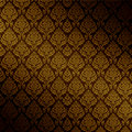 Vector Brown Damask Seamless  Royalty Free Stock Image