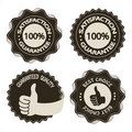 Vector brown satisfaction guarantee labels Stock Photography