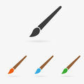 Vector brush icon Royalty Free Stock Photo