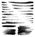 Vector brush strokes set of quality handmade Royalty Free Stock Image