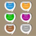 Vector bubble speech stickers set with place for your text Stock Photo