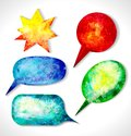 Vector bubbles for speech vector eps illustration Royalty Free Stock Images