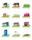 Vector Building Icon -- 3D Illustration Royalty Free Stock Photography