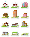 Vector Building Icon -- 3D Illustration Stock Photos