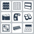 Vector building materials icons set construction Stock Photos