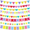 Vector Bunting Royalty Free Stock Photo