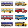 Vector bus icons on white background Stock Images