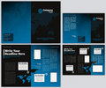 Vector Business Brochure and Tri Fold Flyer Stock Image