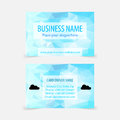 Vector business card design template. Royalty Free Stock Photo
