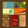 Vector business card set Stock Images