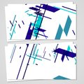 Vector business card set for your design abstract illustration Stock Images