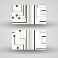Vector business card set for your design circuit board illustration Stock Images
