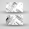 Vector business card set for your design circuit board illustration Stock Image