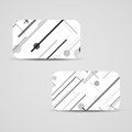Vector business card set for your design circuit board illustration Royalty Free Stock Image
