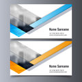 Vector business card template. Creative corporate identity layout.