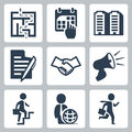Vector business concept icons set Stock Images