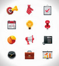 Vector business icon set Stock Images