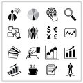 Vector of business icons set finance logistic icon Royalty Free Stock Image