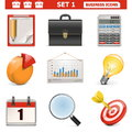 Vector business icons set on white background Royalty Free Stock Photos