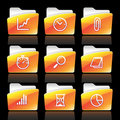 Vector business iconset Stock Photography