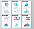 Vector business infographic brochure pages with demographics icons, charts and elements