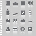 Vector business office flat icon set illustration stock Royalty Free Stock Photo