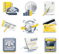 Vector business and office icons. Part 2 Royalty Free Stock Images