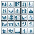 Vector Business People Icons Royalty Free Stock Photos