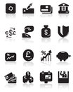 Vector business related icon set Stock Images