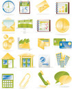 Vector business related icon set Royalty Free Stock Photo