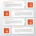 Vector business step paper chart and numbers banner design template abstract infographics number options illustration can be used Stock Photography