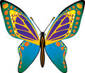 Vector butterfly Royalty Free Stock Photos