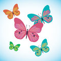 Vector butterfly insect art white decorative