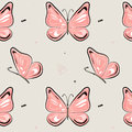 Vector butterfly pattern. Nature insect background. Kids summer illustration. Natural spring pink print Royalty Free Stock Photo