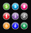 Vector buttons with different variations of dollar Royalty Free Stock Photography