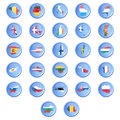 Vector buttons with flags of the states of the Eur Royalty Free Stock Image