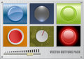 Vector buttons pack Royalty Free Stock Image