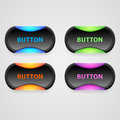 Vector buttons set of colorful d illustration Stock Photo