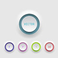 Vector buttons on white background Stock Photo