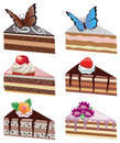 Vector cake slices Royalty Free Stock Images