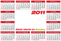 Vector Calendar 2011 Royalty Free Stock Photography