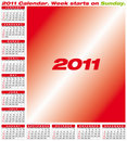 Vector Calendar 2011 Stock Images