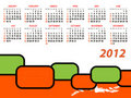 Vector calendar for 2012 Royalty Free Stock Photo