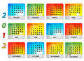 Vector calendar for 2012 Stock Photo