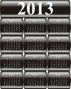 Vector calendar 2013 Stock Images