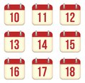 Vector calendar app icons to days this is file of eps format Stock Image