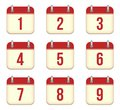 Vector calendar app icons to days this is file of eps format Royalty Free Stock Photos
